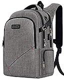 ZZL Business Laptop Rucksack, Anti-Theft Travel Laptop Rucksäcke mit USB Charging Port & Kopfhörer-Schnittstelle für Outdoor-Arbeit Geschäftsreisen (Grey)