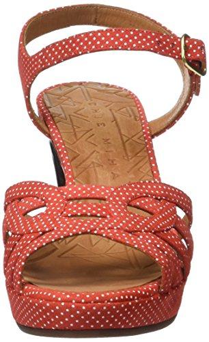 Chie Mihara Inga, Sandales Plateforme Femme Rouge (Punti Clavel)