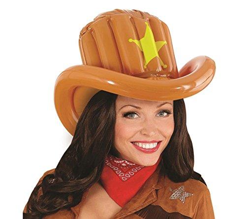 Aufblasbar Cowboy Hat Blow Up Wild West Rodeo Dallas Fancy Dress Prop (Cowboy Up Blow Kostüm)
