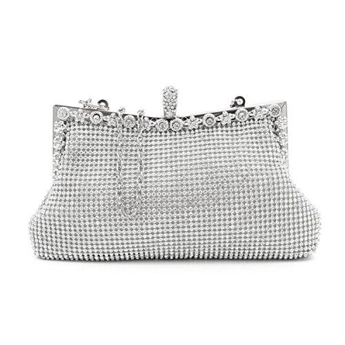 High-end Di Moda Mini Luxury Party Borsa Casuale Silver
