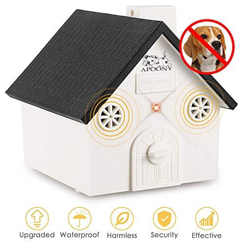 APoony Hund Ultraschall Anti Bellen Repeller mit Hängendem Seil Cute Haus Form Anti-Bellkontrolle Ultraschall-Anti-Bell-Stopp Antibell Trainer Im Freien (C101) -