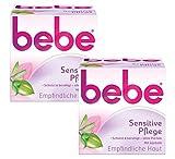 Bebe Sensitive Pflege / Beruhigende Feuchtigkeitscreme für empfindliche Haut mit Jojobaöl / 2 x 50ml
