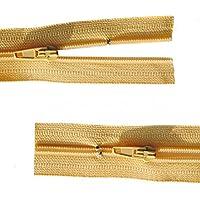 Reißverschluss Kopfkissen Bettwäsche schließbare Länge 70 cm sand