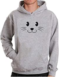 BUSIM Men's Long Sleeved Sweater Autumn Winter Personality Eed Cat Print Fashion Casual Hooded Sweatshirt Pullover...