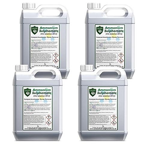 Lancelot Ammonium Sulphamate 25% Solution - Liquid Ammonium sulfamate - Compost Accelerator, Flame retardant (4x5L)