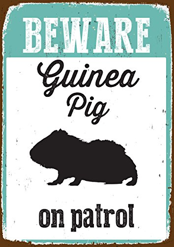 iman-y-acero-beware-guinea-pig-on-patrol-tin-sign