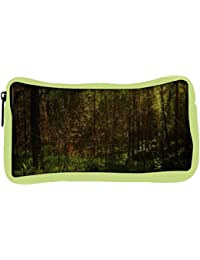 Snoogg Eco Friendly Canvas Forest Grass Designer Student Pen Pencil Case Coin Purse Pouch Cosmetic Makeup Bag