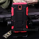 Galaxy Note 3 Funda, Cocomii Robot Armor NEW [Heavy Duty] Premium Belt Clip Holster Kickstand Shockproof Hard Bumper Shell [Military Defender] Full Body Dual Layer Rugged Cover Case Carcasa Samsung N9000 N9005 (Red)