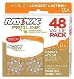 Rayovac Mercury Free Proline Advanced Size 13 Hearing Aid Batteries, Total of 48 Batteries by Rayovac