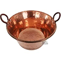 M.D.S Cuisine Cookwares Cazo de Cobre para Carnitas Grande, 24 Pulgadas, Calibre Resistente,