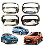 #2: RedClub Galio/ Prius Car Door Finger Guards (Chrome) [Made in India] for Suzuki Alto 800/ Alto K10/ Alto Old with Complementary 01 Pair of RedClub Blind Spot Mirrors + RedClub Pen Free