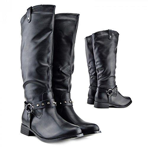 Donna Stile di guida Knee High Boot ,stivali da equitazione,knee high boot Nero