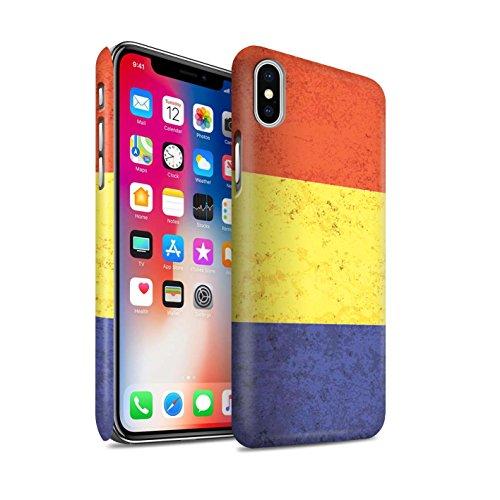STUFF4 Matte Snap-On Hülle / Case für Apple iPhone X/10 / Australien/australisch Muster / Flagge Kollektion Rumänien/Rumänisch