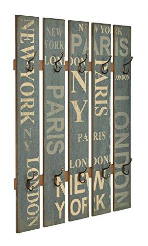 "Wandgarderobe Flurgarderobe ""London"" Hakenleiste Holz 70x100 cm Shabby Landhaus"
