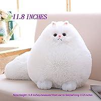 Winsterch-E Kids Fluffy Soft Plush Toy Cat Stuffed Animal Toy Baby Doll Cuddly Toy Plush Pillow Cushion
