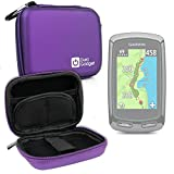 DURAGADGET Garmin SmartWatch Case for Garmin Approach G5, G6, G7, G8, S20 & X40 - Premium Quality Purple Hard EVA Shell Case with Carabiner Clip & Twin Zips