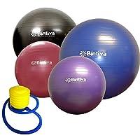 bintiva Anti-Burst Fitness Exercise Stability Yoga Ball/Swiss, Birthing, Gym Ball 75Cm Purple