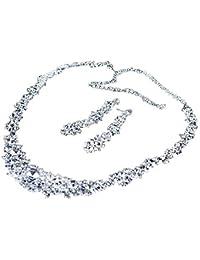 MFEIR Los collares y pendientes de novia un serie de esos las adornación de la boda