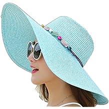 Youkara 1 Pc Sombrero de Paja de La Visera del Verano Señoras del Verano Sombrero  Al d0f7da46254