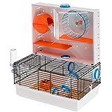 Ferplast - Olimpia/57922599 - Cage pour hamsters - Complètement équipée - 46 x 29.5 x 54 cm