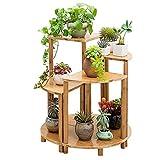 GONGFF Supporti/mensole per Piante da Fiori in Legno Display da Giardino per fioriera Scaffale da Giardino ad Angolo per Esterni/Interni