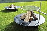 Radius 75 cm Stahl anthrazit Fireplate Feuerstelle - Grill nachrüstbar - 531 d