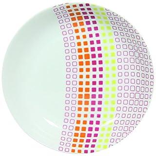 Novastyl 8010385 Mozaika Lot de 6 Assiettes Porcelaine Multicolore 22 x 22 x 4 cm