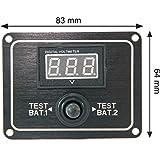 Batterietester Schaltpaneel für Batterien für 2 Batterien - digital