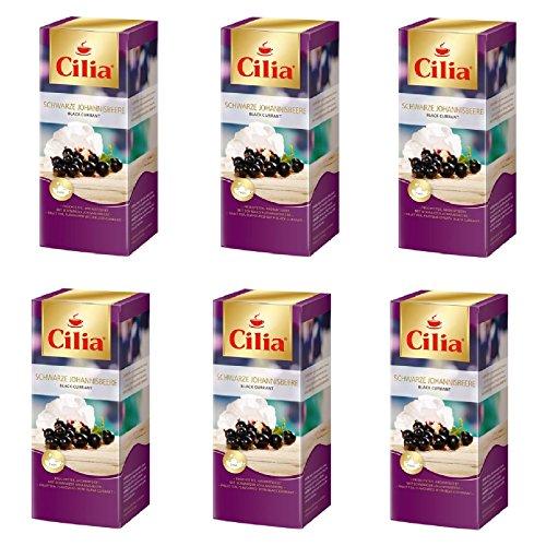 Melitta Schwarzer Tee (Melitta Cilia Tee Schwarze Johannesbeere 6 Packungen je 25 x 2,2g Teebeutel)