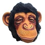 Masken für Erwachsene, WeGood Affe-Maske für Halloween Neuheit Halloween Kostüm Partei Cosplay Maskerade Tierkopf Gummimasken (Affe)