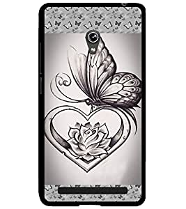 ColourCraft Butterfly Design Back Case Cover for ASUS ZENFONE 6 A600CG