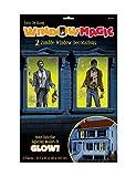 Fenster Bilder Zombie Halloween Deko Set 2 teilig bunt 165x85cm