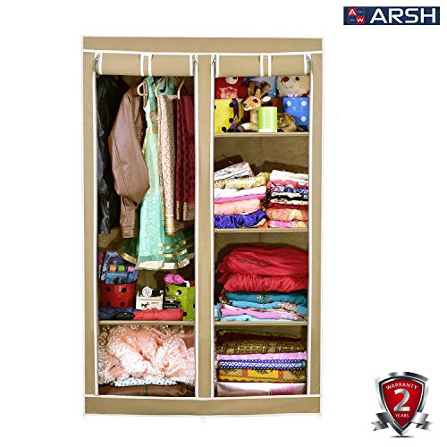 Arsh Portable And Collapsible Wardrobe Metal Frame 6