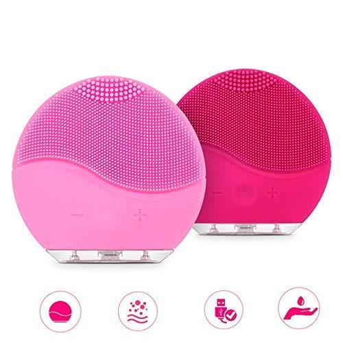 Jiguoor Gesichtsreinigungsbürste und Gesichtsmassagegerät Elektrische Silikon-Ultraschall-Vibrations-Gesichtsbürste Wiederaufladbare wasserdichte Anti-Aging-Hautreinigungs -