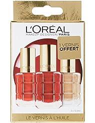 L'Oréal Paris Make Up Designer Coffret Fêtes des Mères 3 Vernis à l'Huile Color Riche Collection Rouge Dont 1...