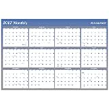 #8: AT-A-GLANCE Wall Planner Calendar 2017 Erasable Reversible Yearly Quarterly 36 x 24 A1102