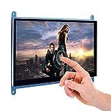 TOOGOO 7 Zoll Kapazitiver Beruehrungsempfindlicher Bildschirm TFT LCD Display HDMI Modul 800x480 Fuer Raspberry Pi 3 2 Modell B und RPI 1 B + A BB Schwarz PC Verschiedene Systeme SC7B