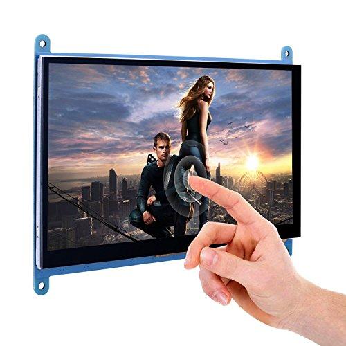 SODIAL Display LCD TFT capacitivo da 7 pollici con touch screen Modulo HDMI 800x480 per Raspberry Pi 3 2 Modello B e RPi 1 B + A BB Nero PC Sistemi vari SC7B