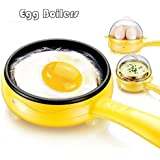 ASkyl Compact and Versatile 7 Egg Boiler + Non-Stick Electric Frying Pan (Multi Color)