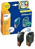 Pelikan P09 Druckerpatronen PromoPack (ersetzen HP 45/78 51645A/C6578A) 3-farbig, schwarz