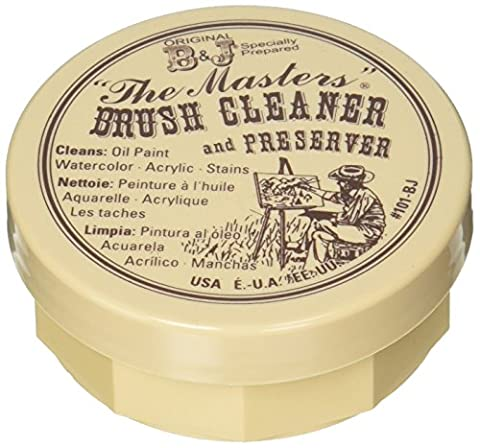 The Masters Brush Cleaner & Preserver 2.5 Ounces Carded- (Single Use Container)