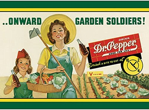 dr-pepper-soda-onward-garden-soldiers-tin-sign-12-x-17in-by-dr-pepper