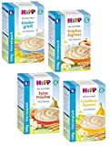 Hipp Bio Milchbrei Mix, 4 Sorten bestehend aus Kindergrieß, Feine Früchte,Banane und Früchte Joghurt (4x500g)