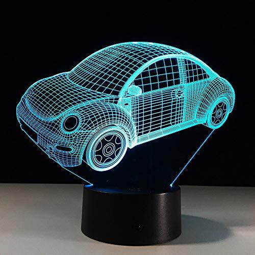 7 farben visuelle auto modell 3d led nachtlicht für kinder geschenke touch switch usb tisch lampara lampe baby schlaf beleuchtung han-8433 -