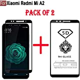CEDO Full Glue Coverage Edge to Edge Tempered Glass Screen Protector for Xiaomi Redmi Mi A2 (Black, Pack of 2)