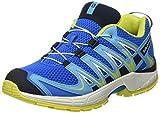 Salomon Enfant XA Pro 3D Chaussures de Course à Pied et Trail Running - Bleu/Turquoise (Indigo Bunting/White/Sulphur Spring), Pointure: 30