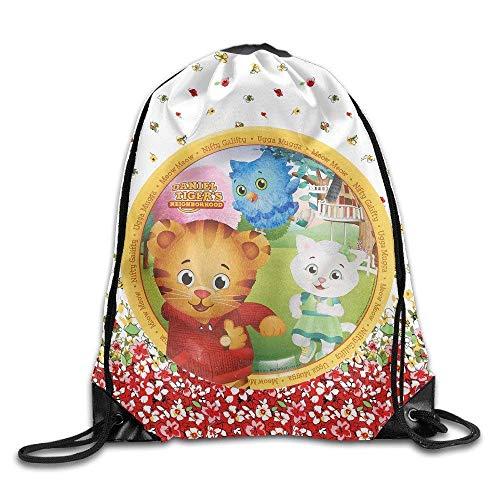 CHSUNHEY Turnbeutel,Sporttaschen,Meow Daniel Tigers Neighborhood Sack Bag Eco-Friendly Luggage Drawstring Backpack Sport Bag