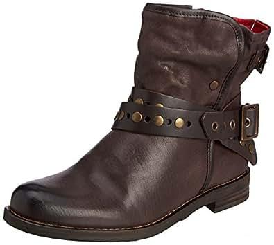 buffalo london es 30622 grasso vaquetilha women 39 s warm lined biker boots half length grey. Black Bedroom Furniture Sets. Home Design Ideas