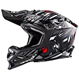 0614-214 - Oneal 8 Series Synthy Motocross Helmet L Black