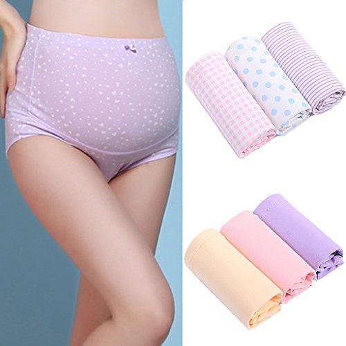 3pcs Femmes Culottes de Grossesse Réglable Caleçons Maternité Sous-vêtements Support Briefs Enceintes #2